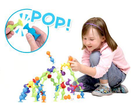 Детский конструктор-присоска